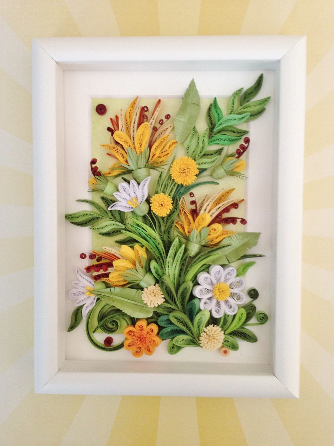 Quilling Wall Art Quilling Flower Art Quilling Picture Paper