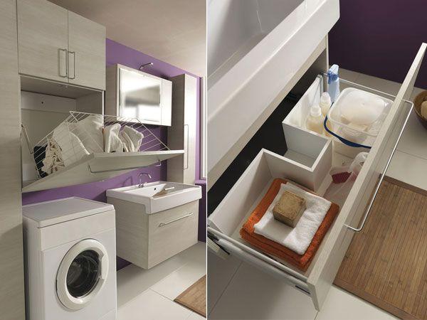 non sempre in casa c'è spazio per lavatrice e vani della ... - Arredo Bagno Lavanderia Casa