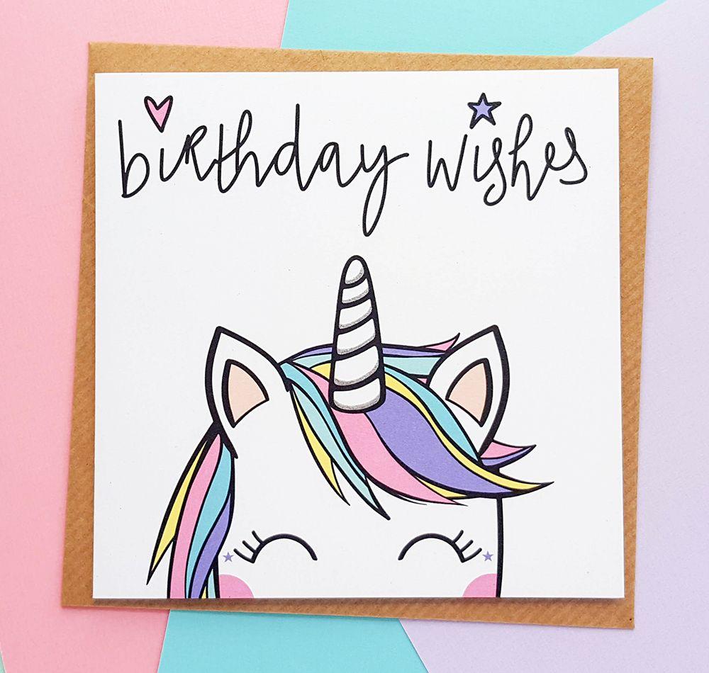 Koko Unicorn Birthday Card Birthday Card Drawing Unicorn Birthday Cards Unicorn Card