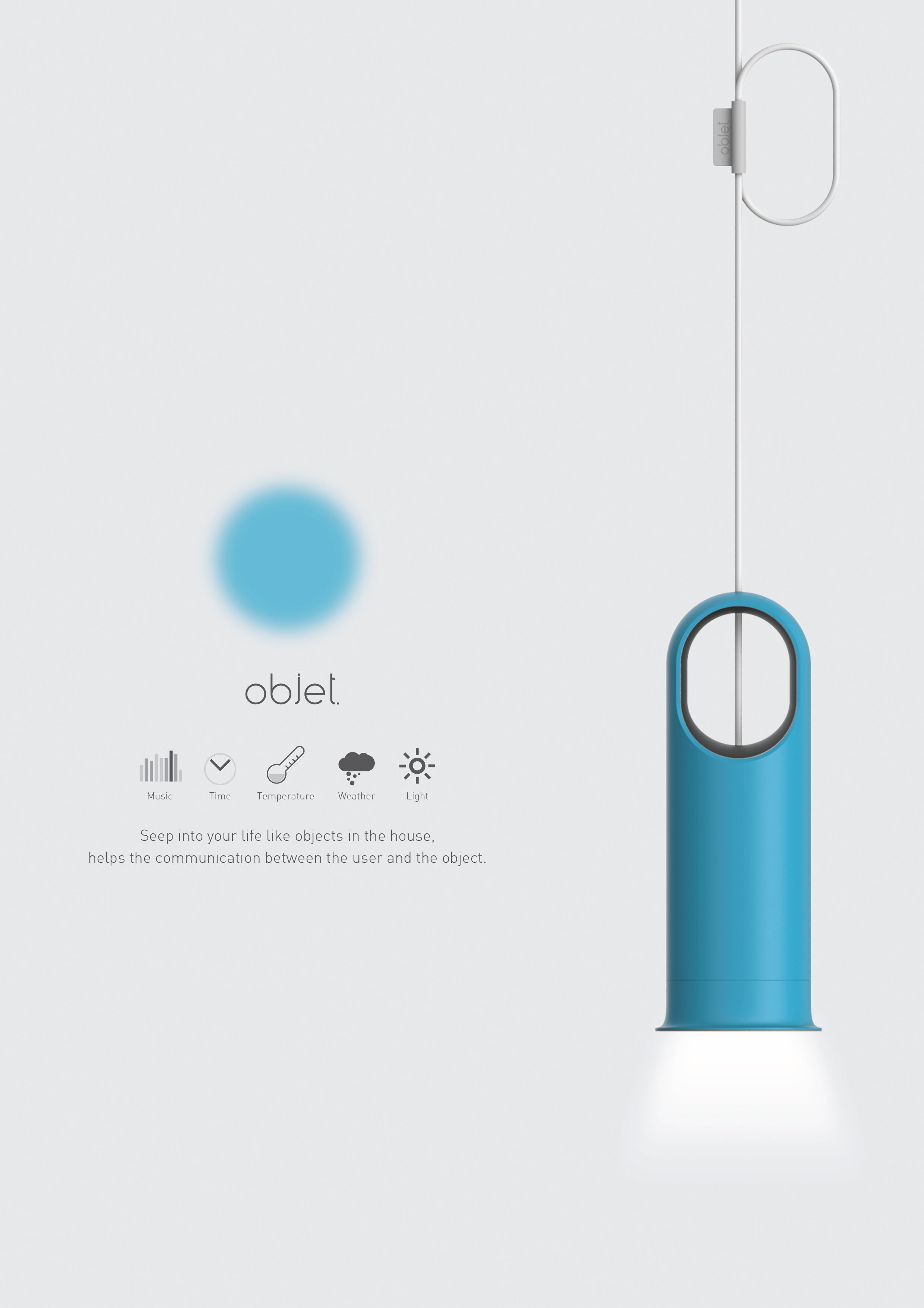 put the function of the internet of things hub to the hanging light assists brighten user u0026 39 s home