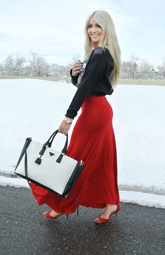 # skirt:Windsor Store  #shoes: Zara  #purse: Ily Couture