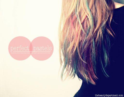 temporary hair dye (chalk) (via the beauty department)