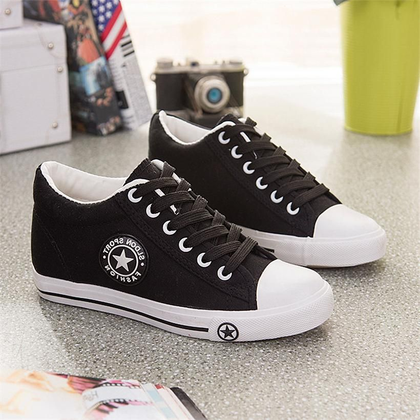 2d4e97c283 Women s and Girls  Fashionable Trendy Canvas Sneakers in 2019 ...