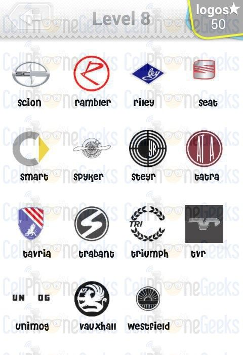 Logo Quiz Cars Answers Level 8