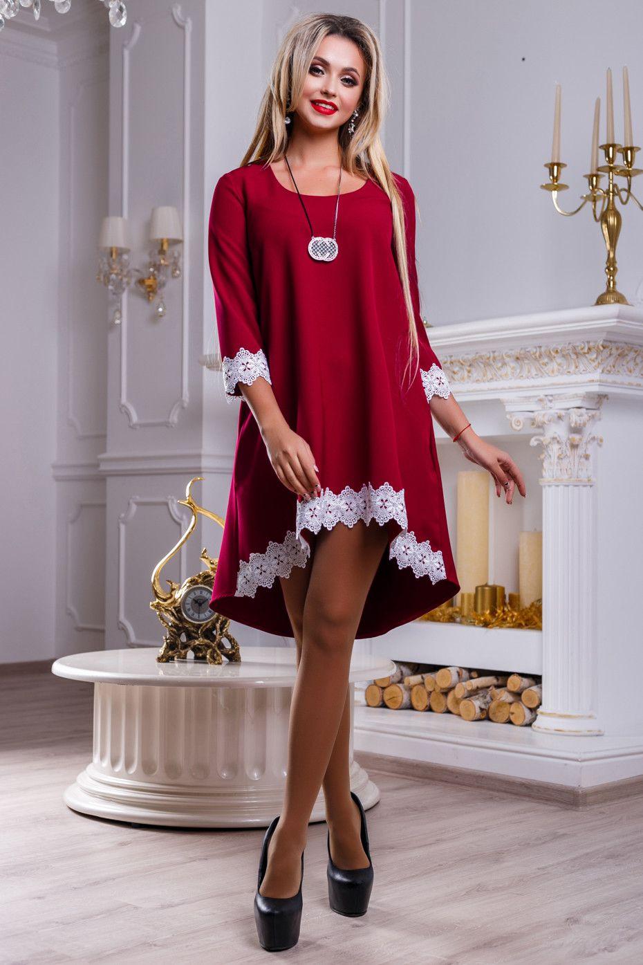 b4a9f4bc801 красное платье свободного кроя с ассиметричным низом. Костюмные и  плательные ткани от Идея 2018