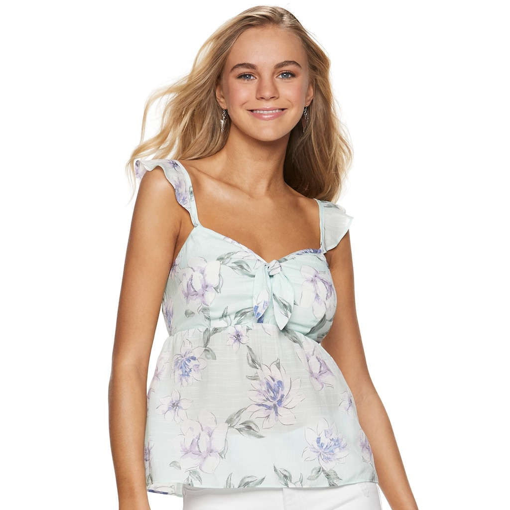 02b439f863d6 Juniors' Candie's® Bow Front Babydoll Tank Top, Teens, Size: Medium ...