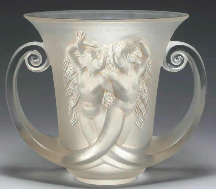 R Lalique Vase Nadica Circa 1930 Rene Lalique