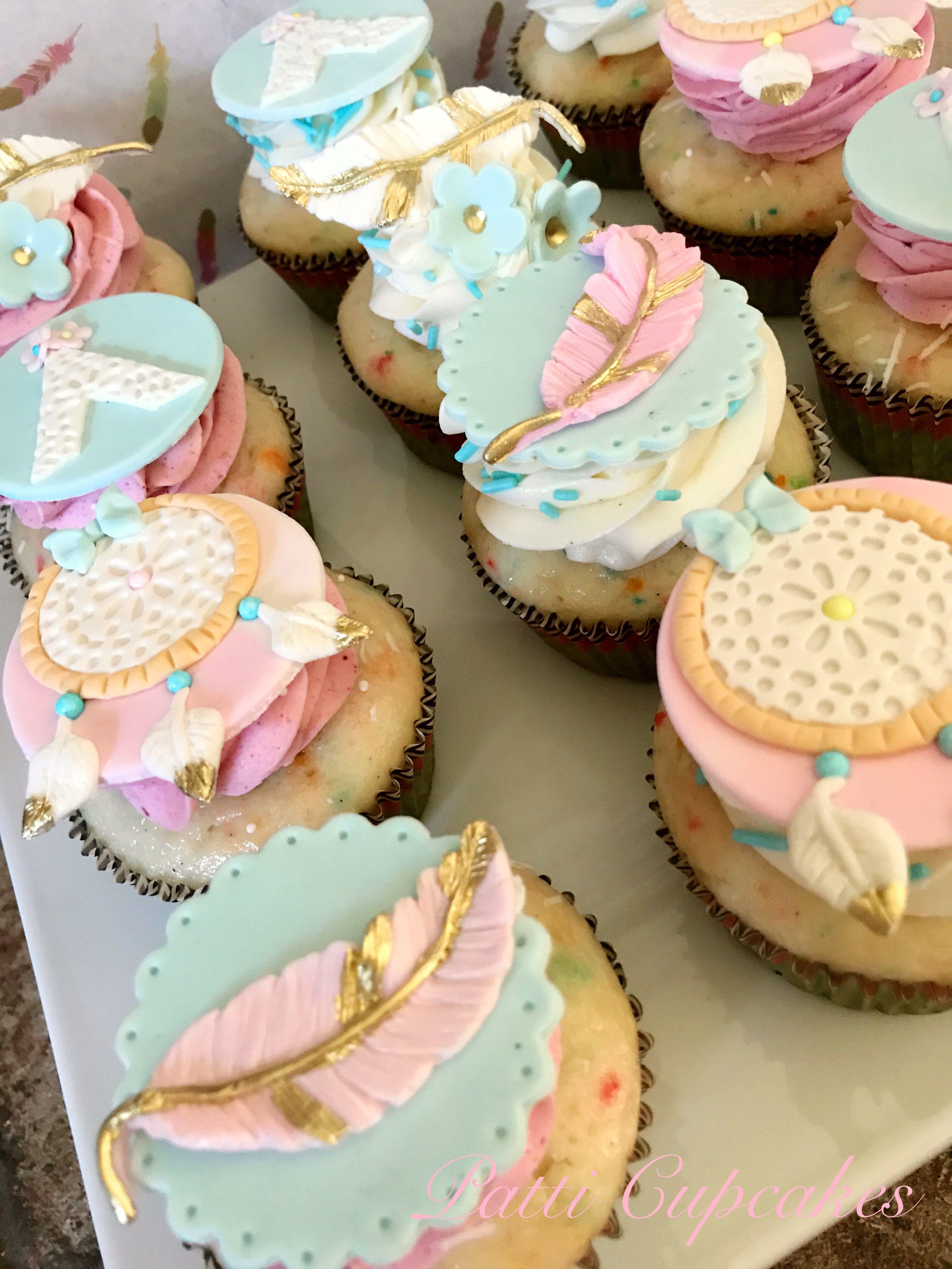 Dream Catcher Cupcakes | birthday party ideas | Pinterest ...