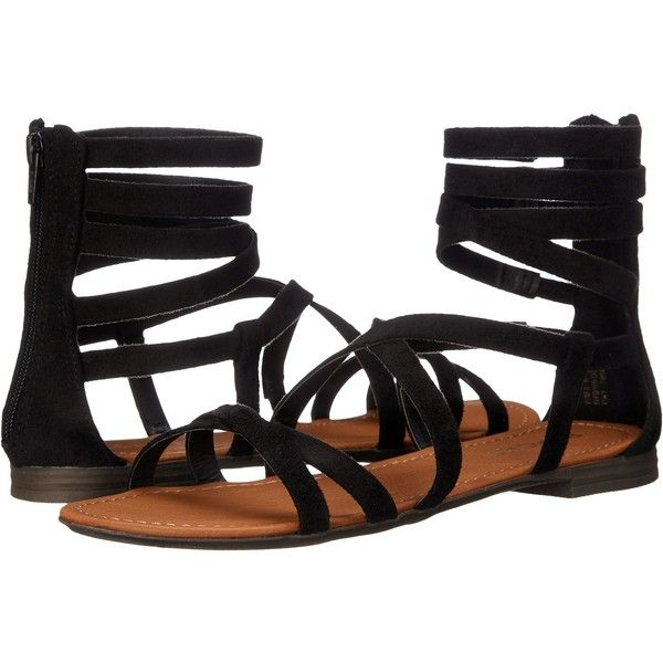 Report Gibbson (Black) Women's Shoes ($20) ❤ liked on Polyvore featuring shoes, sandals, black, report shoes, black gladiator shoes, kohl shoes, black open toe shoes and black low heel shoes