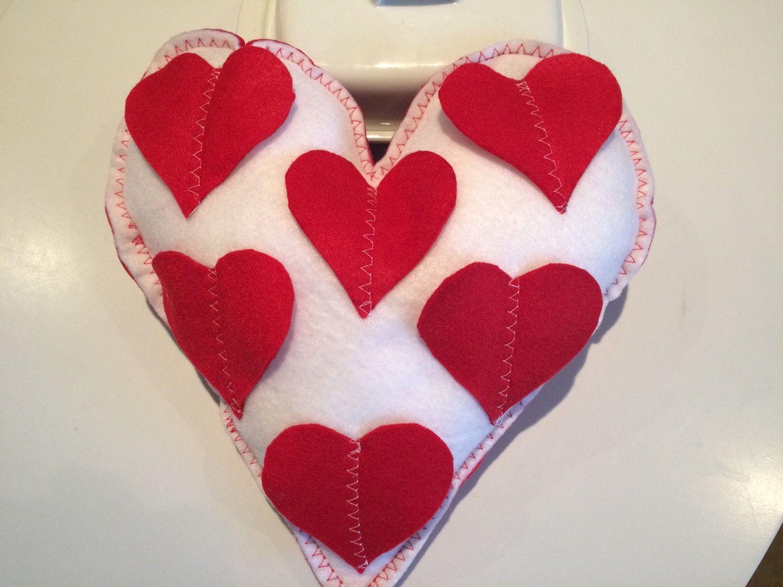 Valentine Gift Heart Shape Pillow Home Decor Gift Ideas Handmade
