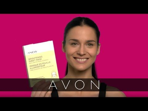 How to apply Avon ANEW Brightening Sheet Mask - https://www.avon.com/product/anew-brightening-sheet-mask-with-white-pearl-essence-4-pack-57833?rep=barbieb  $30  Get brighter, more radiant looking skin with the Avon ANEW brightening skin care routine!  #Avon #ANEW #SheetMasks #SkinCare #AvonRep  https://www.avon.com/anew-sheet-masks?rep=barbieb