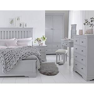 K interiors Maison Grey Painted Furniture Kingsize 5ft Bedroom Set