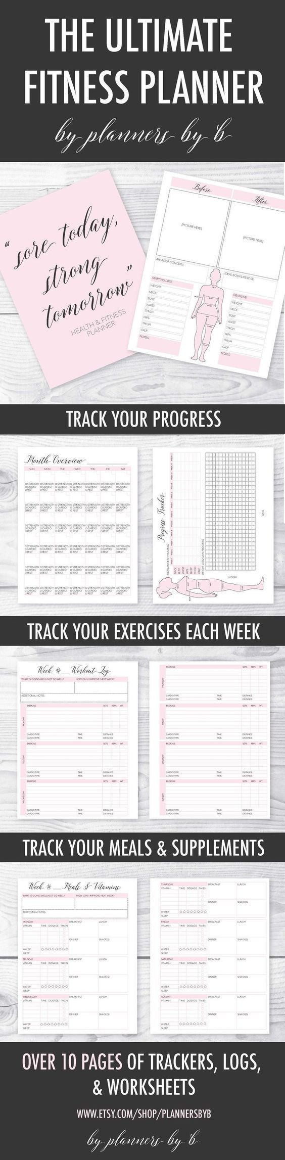 #cute #easy #Fitness #Printable #track         This is such a cute and easy way to keep track of you...