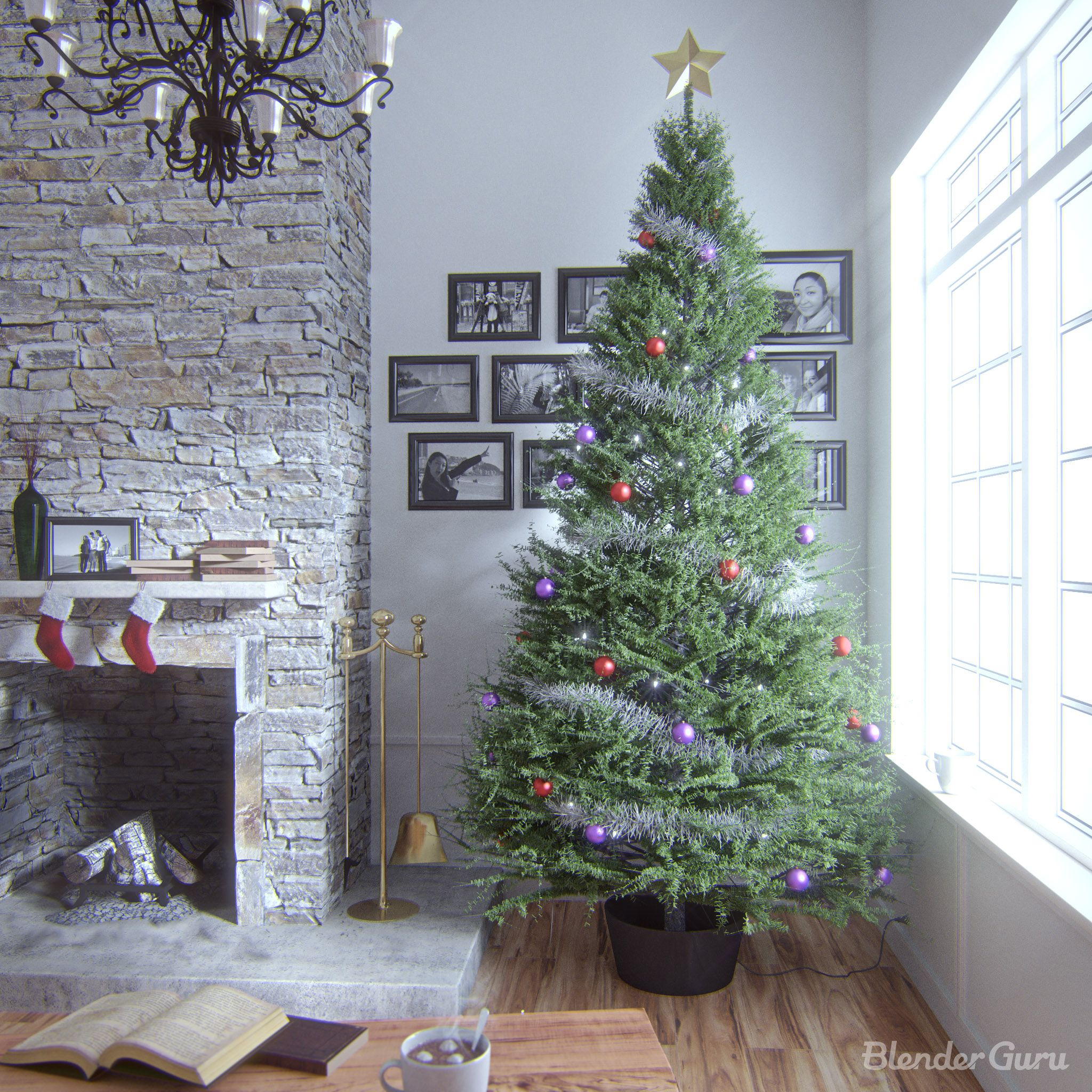 How To Make A Blender Christmas Tree Model By Andrew Price