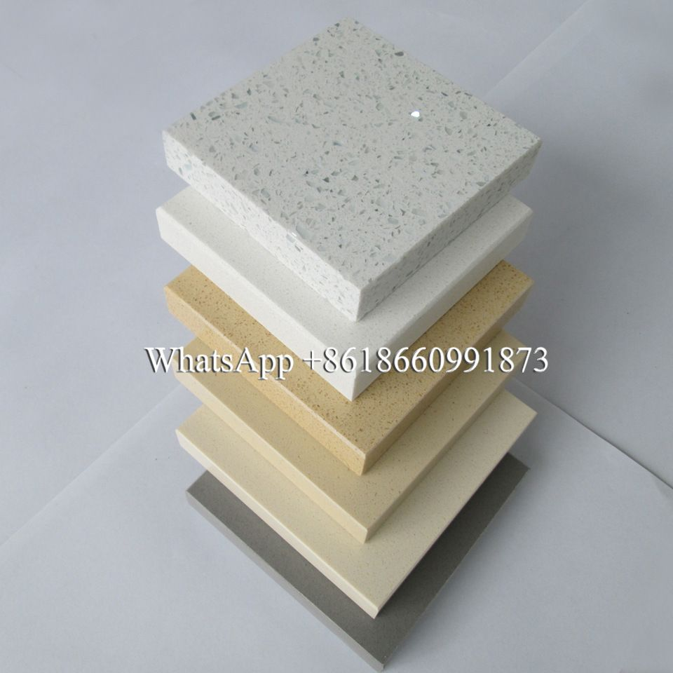 Hot Sale Reasonable Price White Mirror Quartz Slabs Absolute