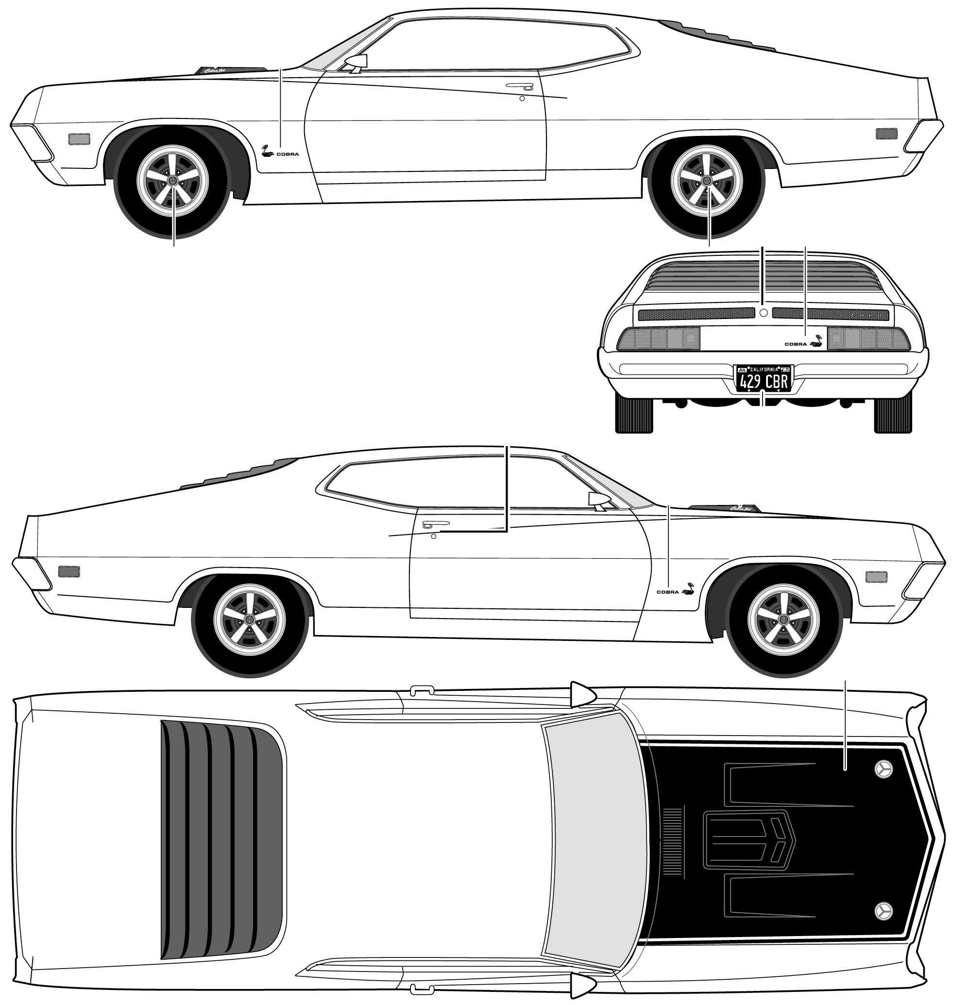 Ford torino cobra blueprint mechanical blue prints pinterest ford torino cobra blueprint malvernweather Image collections