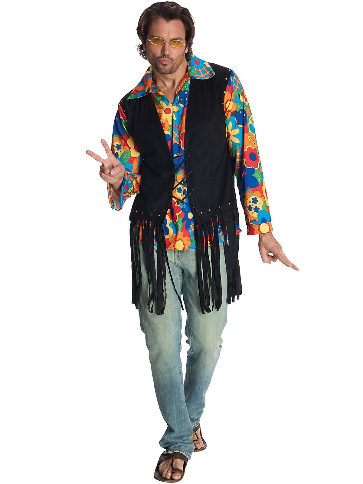 Mens Flower Power Hippie Costume | Wholesale Hippie Costumes for ...