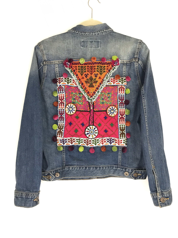 Free Spirit Denim Jacket Banjara Patch Beaded Patch Etsy Womens Black Denim Jacket Embellished Denim Denim Jacket Women [ 3000 x 2250 Pixel ]