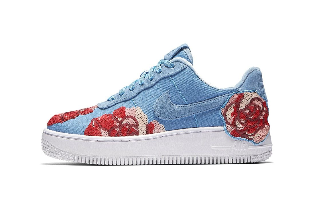 "official photos 4f518 bcd17 Nike Blooms an Air Force 1 ""Floral Sequin"" Pack"