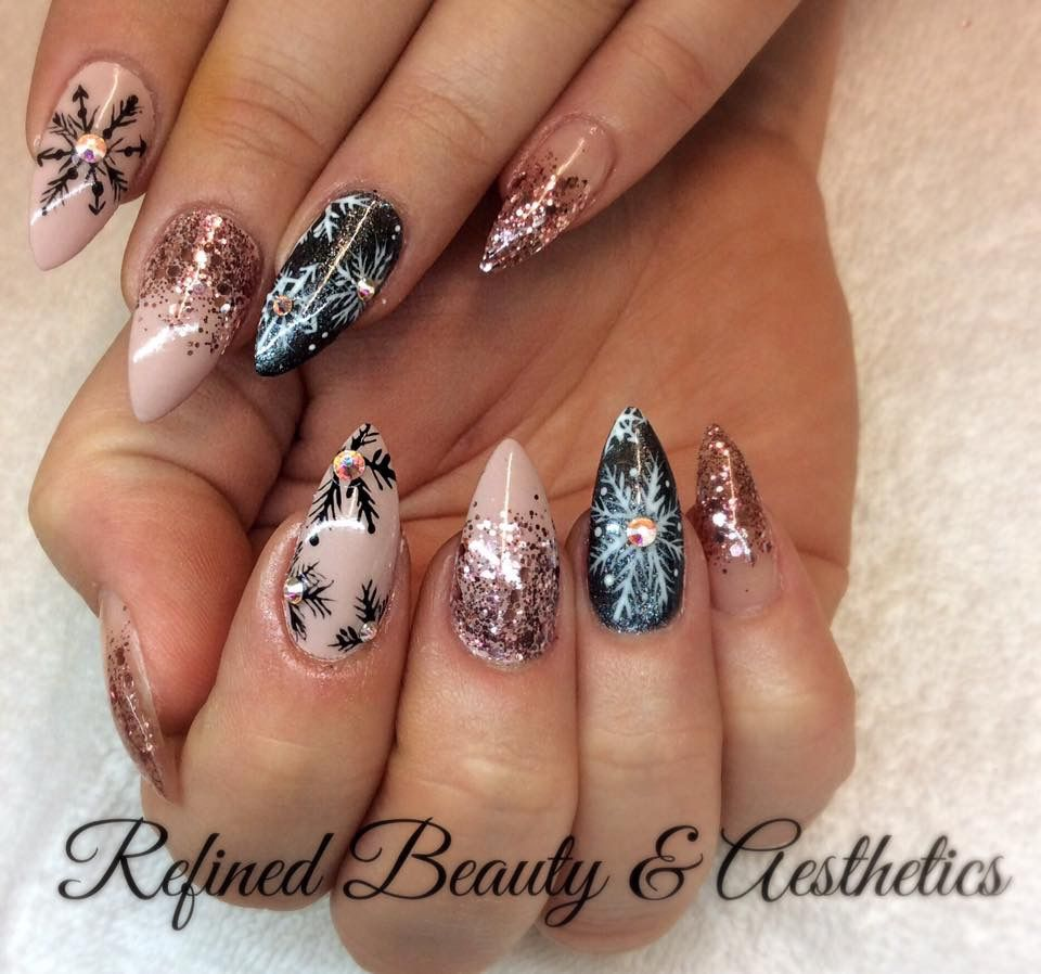 Pin by Breanna Harman on Nailed It | Pinterest | Winter nails, Xmas ...