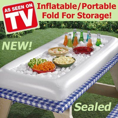 Inflatable Salad Bar Buffet Table Cooler Portable Foldable Party Ice Chest New Ebay