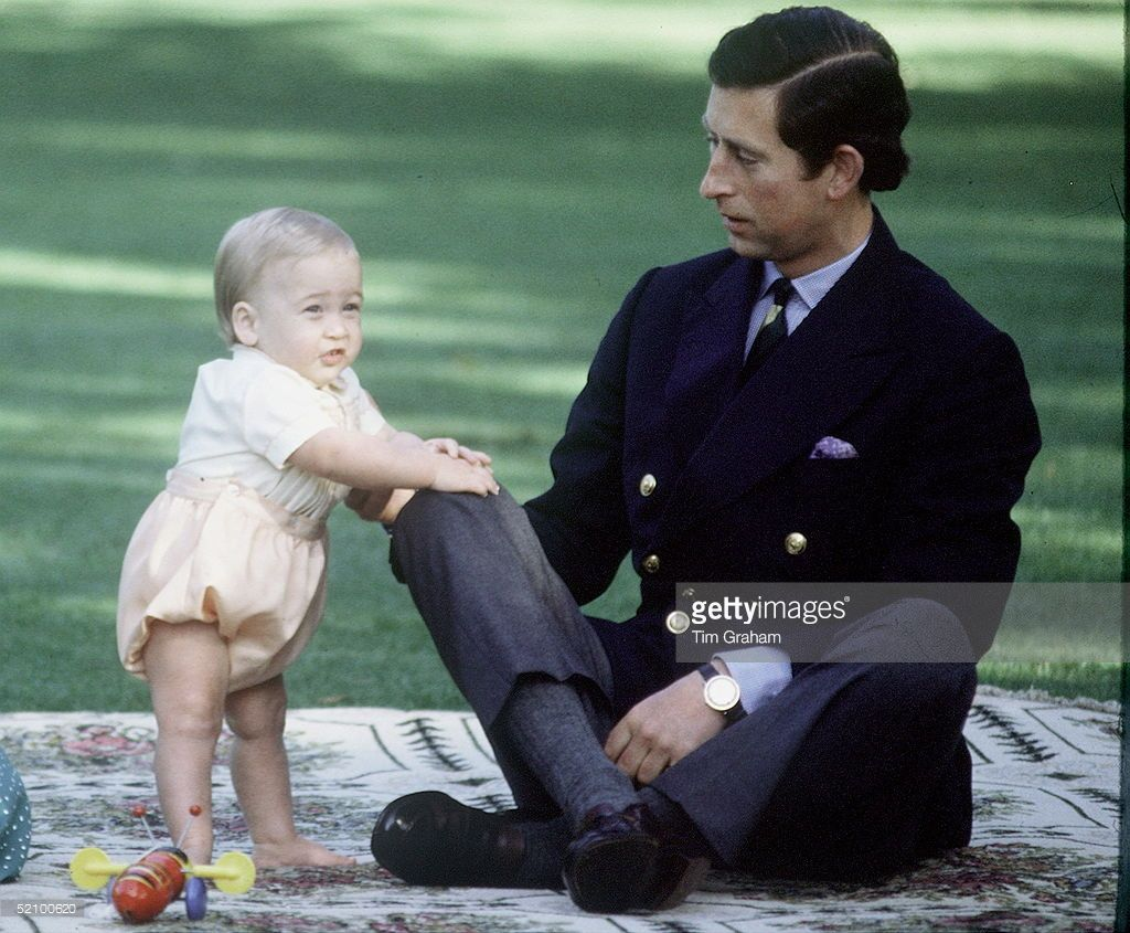Prince Charles With Prince William Age Nearly One In New