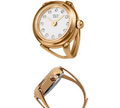 90b2c3e8c940 RELOGIO ANEL Davis Sofia Shiney Ring Watch Gold davis4161 Anillo Reloj