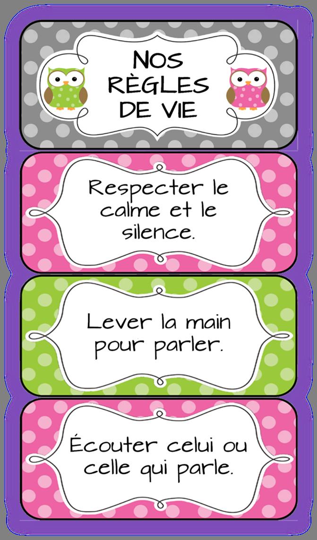 Αποτέλεσμα εικόνας για Les règles de classe