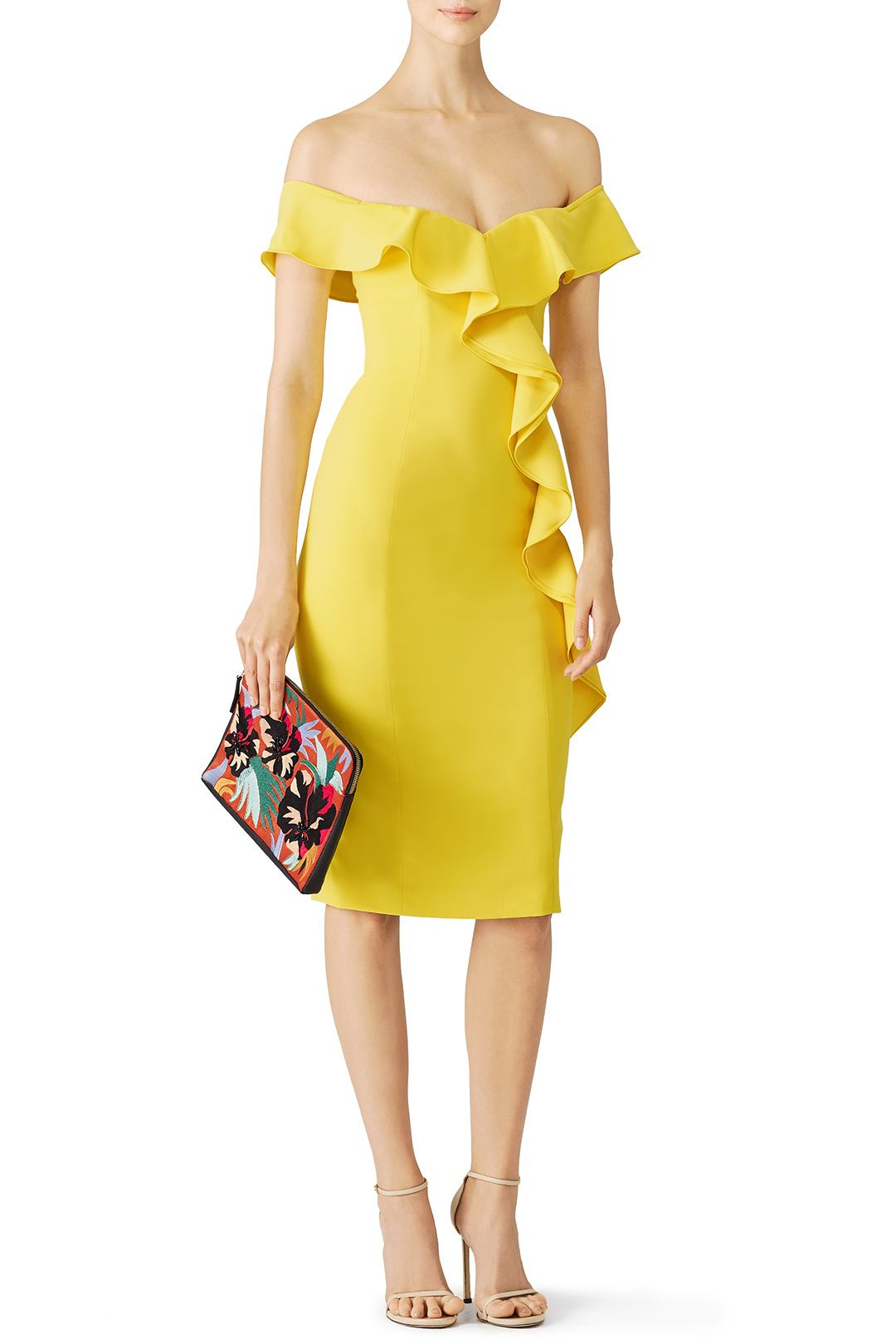 Rent Yellow Gatlin Dress by Jay Godfrey for  55 -  70 only at Rent the  Runway. 0d07c0fc2