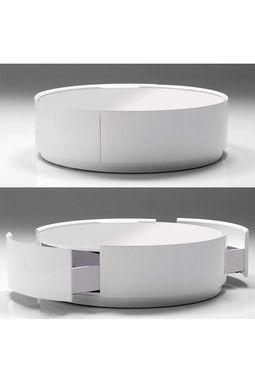 Mobital Modern Furniture....Viva Storage Coffee Table   Pure White