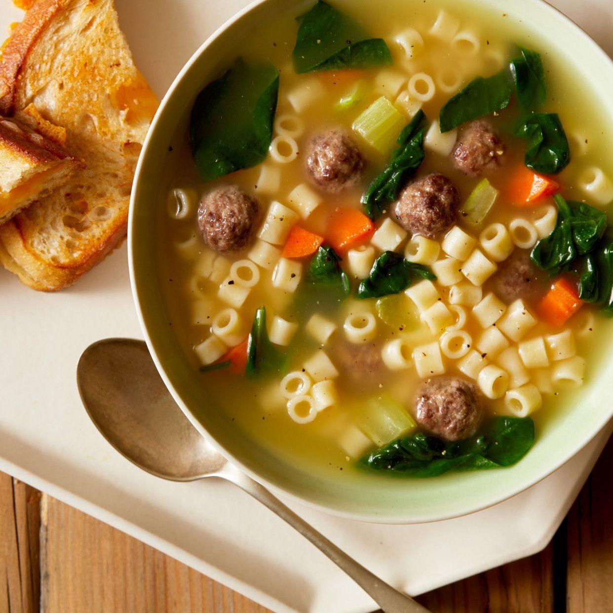 Mini Meatball Soup Recipe in 2020 Food network recipes