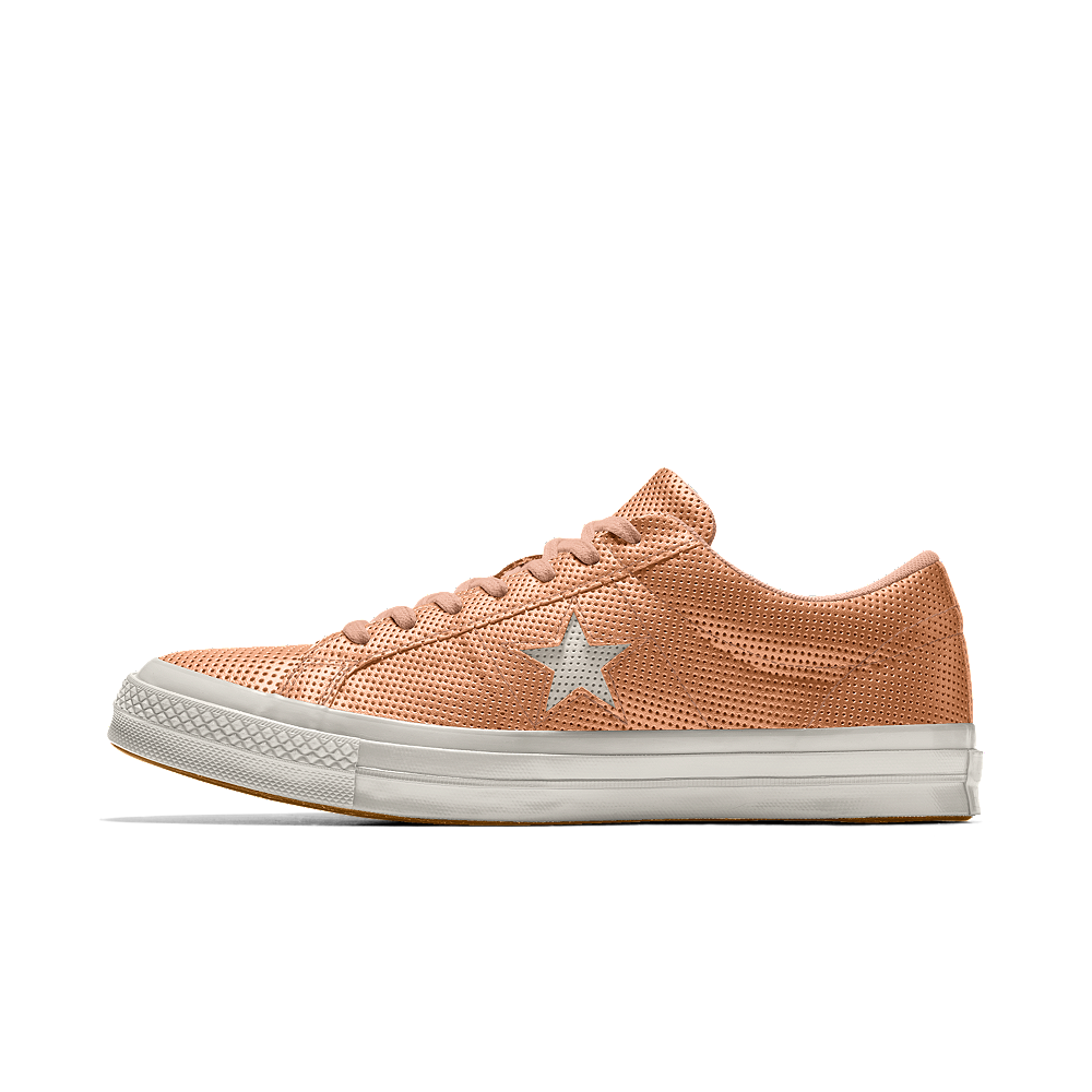 a193f0c678fb4f Converse Custom One Star All Over Perforated Leather Low Top Shoe Size 3  (Orange)
