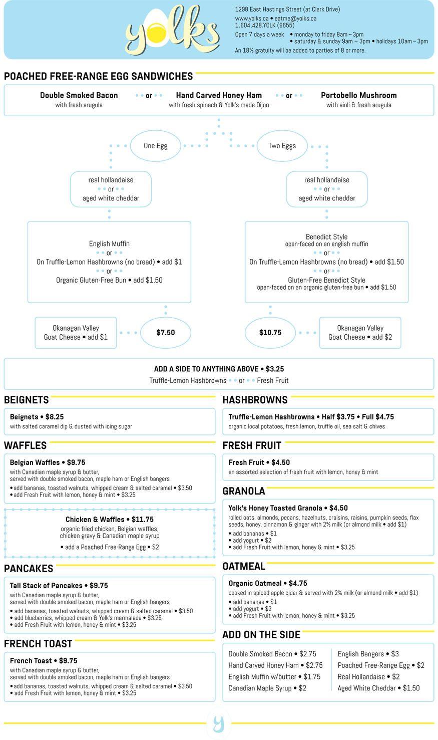 Yolks Menu | Favorite Places | Pinterest | Menu and Restaurants
