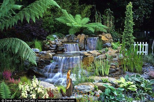 Cascadas y fuentes para el jardín recopilación de fotografías - fuentes de cascada