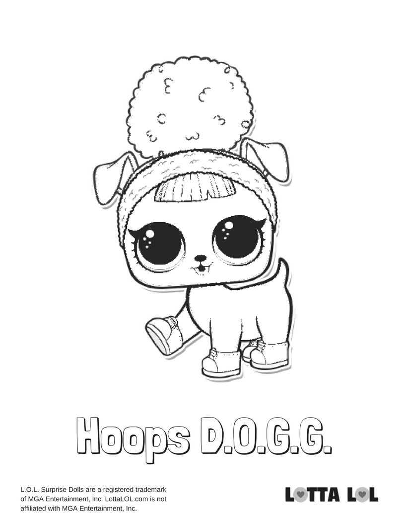 Hoops Dogg Coloring Page Lotta Lol Lol Dolls Coloring Pages Disney Princess Coloring Pages