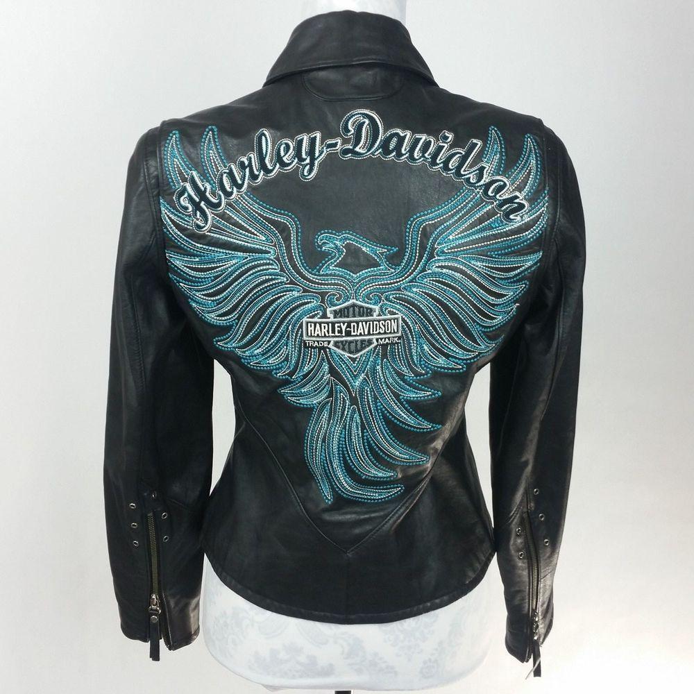 Harley Davidson Womens Arabelle Leather Jacket Turquoise Eagle 97173 07vw Small Harleydavidson Harley Davidson Women Harley Davidson Harley Davidson Clothing [ 1000 x 1000 Pixel ]