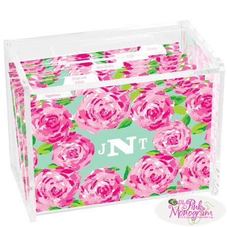 Lilly Pulitzer First Impression Recipe Box Office Supplies U003e Filing U0026  Organization U003e Recipe ...