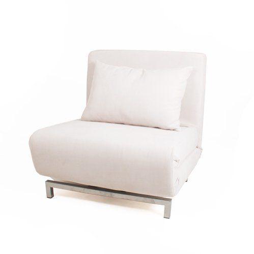 cream futon single sofa chair bed metal frame 360 swivel adjustable recline  http   cream futon single sofa chair bed metal frame 360 swivel      rh   pinterest