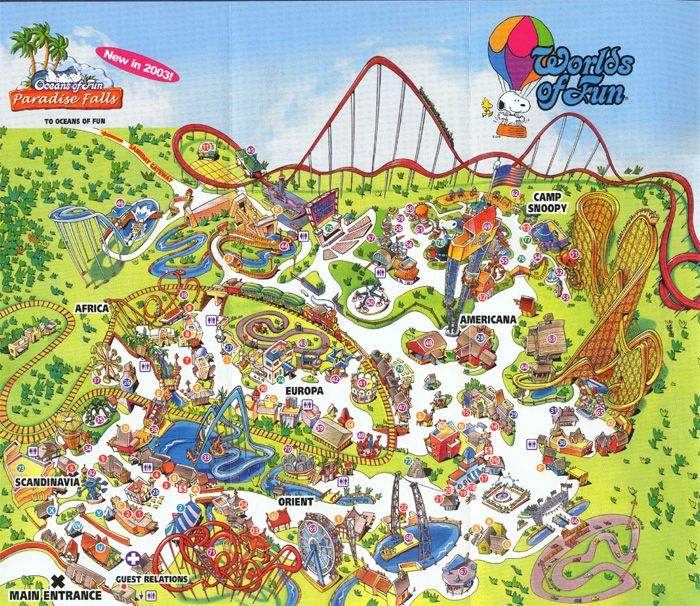 Worlds Of Fun Map Worlds of Fun Map | Favorites! | Worlds of fun, Kansas city, Missouri
