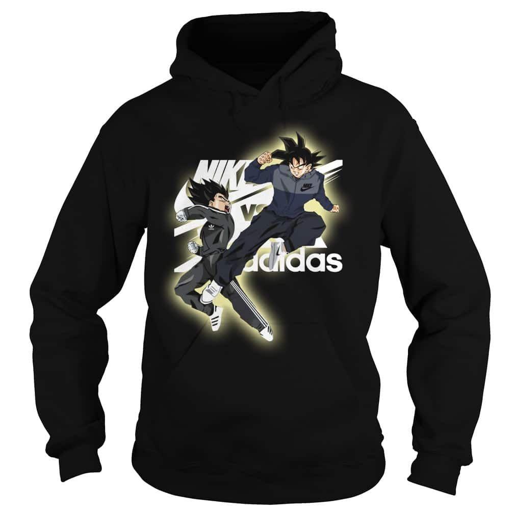 Goku Vegeta Nike Adidas Shirt Hoodie Sweater Adidas Shirt Hoodie Shirt Hoodies