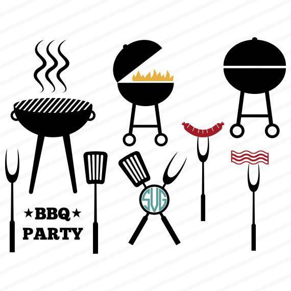 Barbecue svg, barbecue dxf, monogram barbecue svg, barbecue