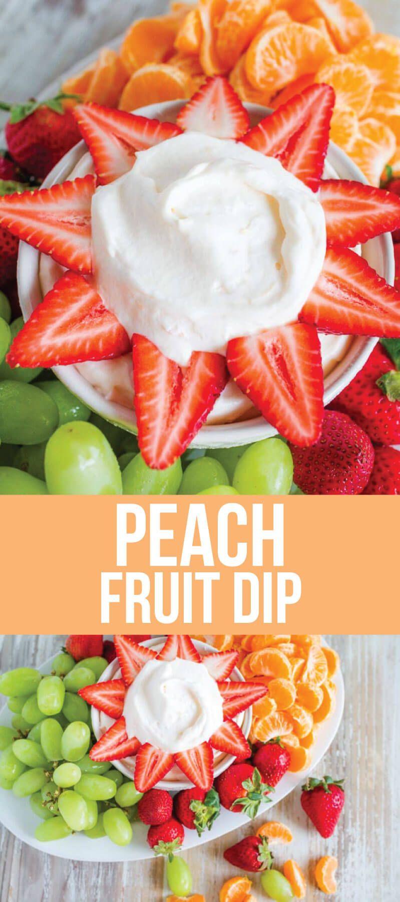 Peach Yogurt Fruit Dip Recipe From 30daysblog Fruit Dips Recipes Fruit Salad Ideas Parties Fruit Dip