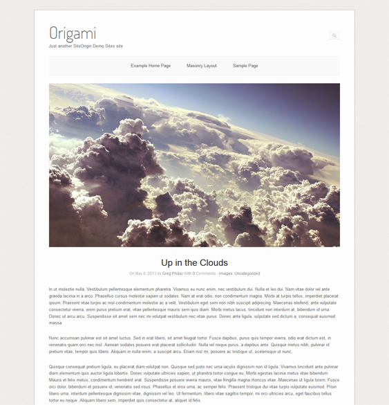 his free one column WordPress theme includes a minimal design, a ...