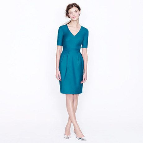Womenu0027s Blue Memo Dress in Super 120s Jcrew, Clothes and Clothing - formal memo