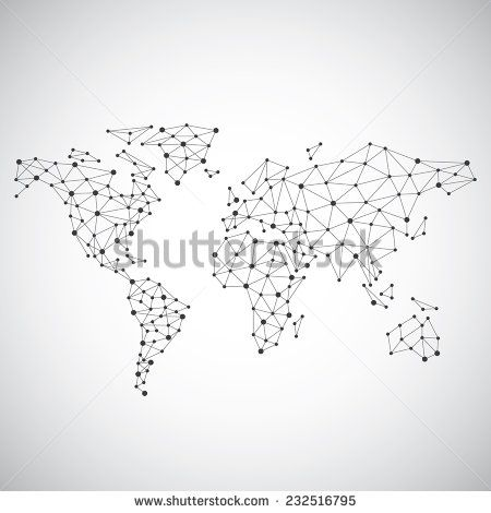 Stylized low poly world map concept with wired construction of stylized low poly world map concept with wired construction of onnection concept globes business background sciox Image collections