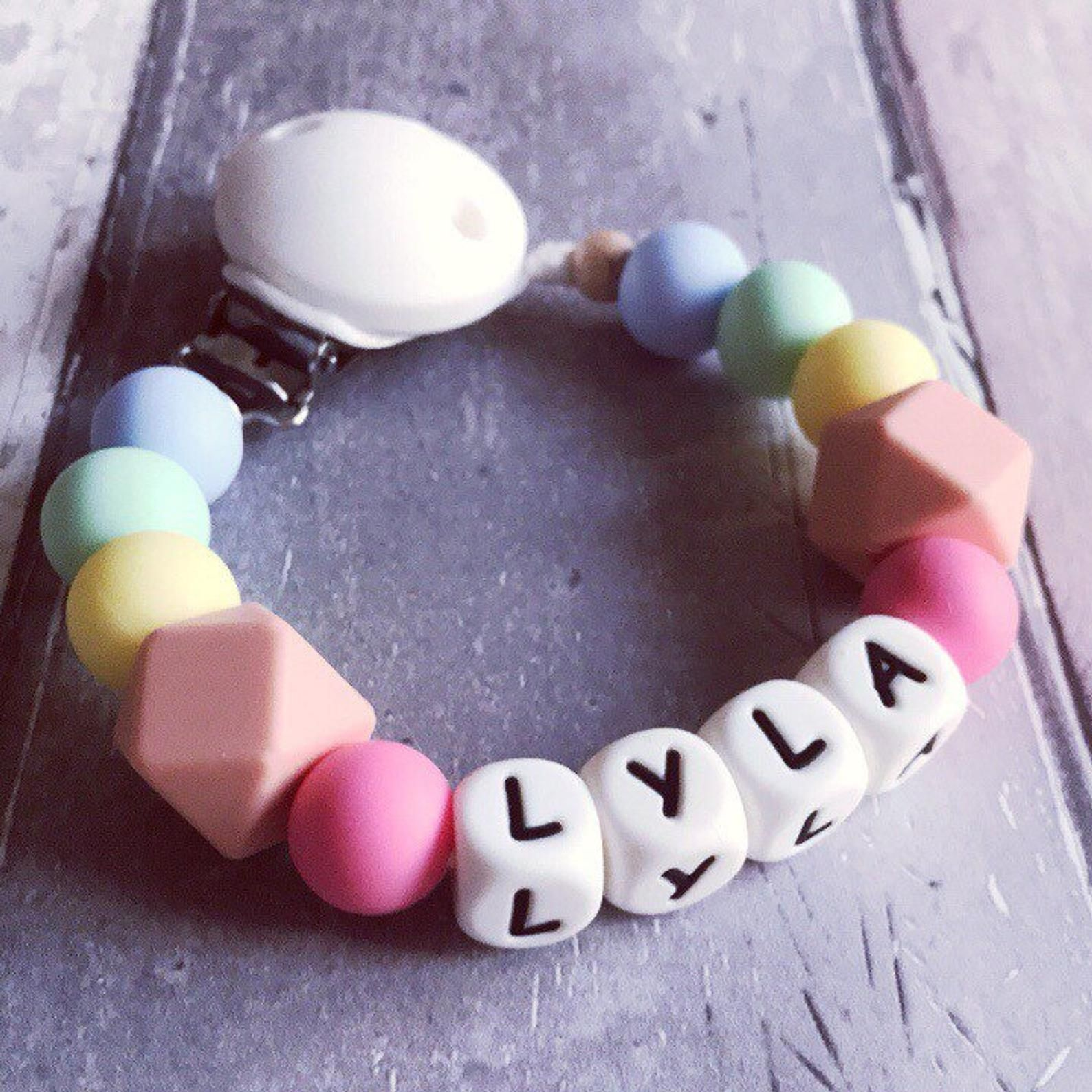 New Baby Dummy Chain Silicone Wood Pacifier Clips Dummy Newborn Teether Toys