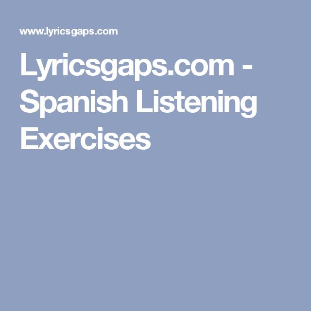 spanish listening exercises music pinterest clase de espa ol espa ol and. Black Bedroom Furniture Sets. Home Design Ideas