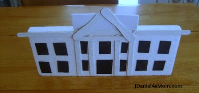 Styrofoam And Popsicle Stick White House Crafts For Kids