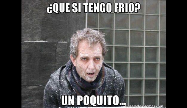 Imagenes Que Nos Provocaran Risa Y Por Que No Un Poquito De Calor Memes De Frio Memes Que Frio Frases