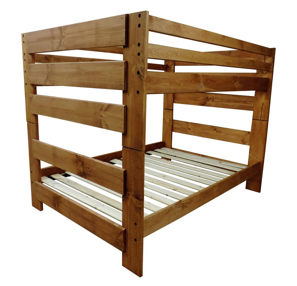 Full Over Full Bunk Bed Boys Bedroom Pine Bunk Beds